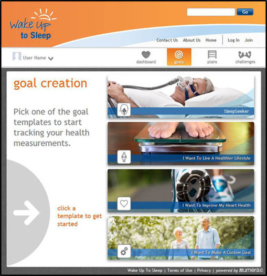 ResMed's new SleepSeeker online tool  gives patients a way to set and track their sleep, health, and wellness goals.  (PRNewsFoto/ResMed Inc.)