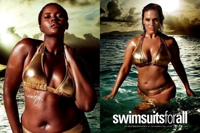 Philomena Kwao and Ashley Graham for #SwimSexy by swimsuitsforall