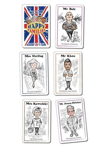 Some of the new Happy Families representing modern day Britain (PRNewsFoto/Blighty Brands)