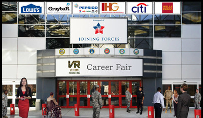 Virtual Career Fair Connects Employers and Veterans.  (PRNewsFoto/Veteran Recruiting Services)