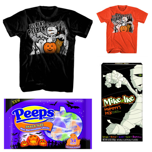 JEEPERS PEEPERS T-Shirts, MIKE AND IKE® MUMMY'S MIX and PEEPS® Mini-Chicks All Make For A