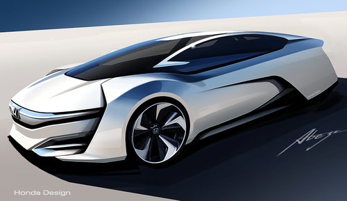 Honda FCEV Concept Makes World Debut at Los Angeles International Auto Show. (PRNewsFoto/American Honda Motor ...