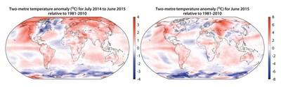Global Temperature Anomaly Highest Since 2009/10 (PRNewsFoto/C3S) (PRNewsFoto/C3S)