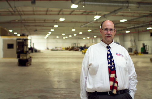 Ken Nemec, president, American Broach & Machine, in the 42,880 sq ft Ypsilanti, Mich. facility where the company plans to expand operations. American Broach & Machine will invest more than $5 million and add 30 jobs over the next three years.  (PRNewsFoto/Ann Arbor SPARK)