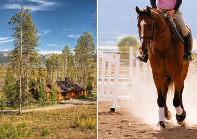 942-acre Teton Valley equestrian property selling in three parcels and 35-acre property in exclusive 'Crescent H' enclave to be auctioned on October 1st and 2nd (PRNewsFoto/Concierge Auctions)