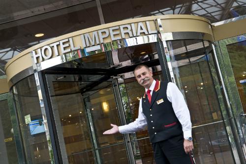 The Hotel Imperial Ostrava entrance (PRNewsFoto/Mamaison Hotels & Residences)