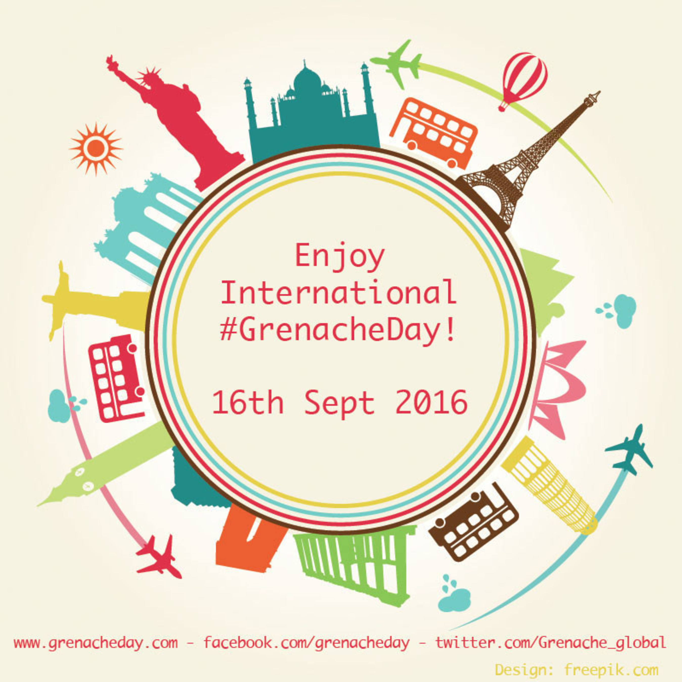 The 7th Annual International Grenache Day a.k.a #GrenacheDay on Friday, September 16th will be one of the biggest days of 2016 for wine lovers as it marks the worldwide day-long celebration of everything Grenache, one of the most widely planted and least known red grapes in the world.
