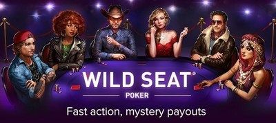 Wild Seat Poker offers mystery payouts that can award players up to 10,000x their stake. (PRNewsFoto/Gamesys)
