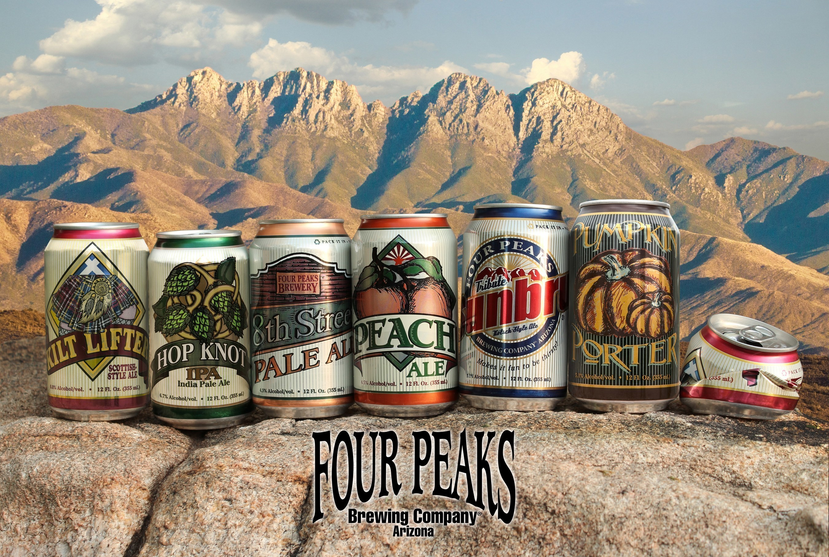 Four Peaks Brewing Company has launched five of its beers in Rexam 12 oz. cans.