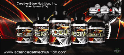 Science Defined Nutrition Product Line.  (PRNewsFoto/Creative Edge Nutrition, Inc.)