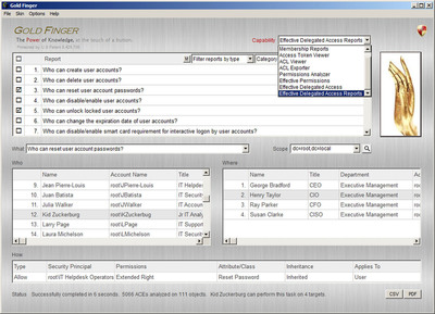 Gold Finger 6.0 from Paramount Defenses - The World's Best Active Directory Audit Tool