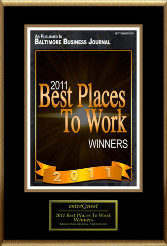 entreQuest Selected for '2011 Best Places To Work'