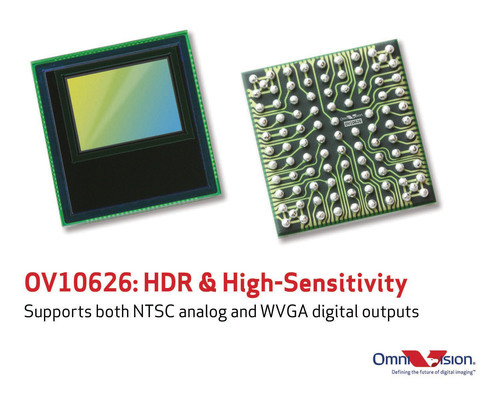 OmniVision's OV10626 CameraChip (TM) sensor delivers high dynamic range and high sensitivity. ...