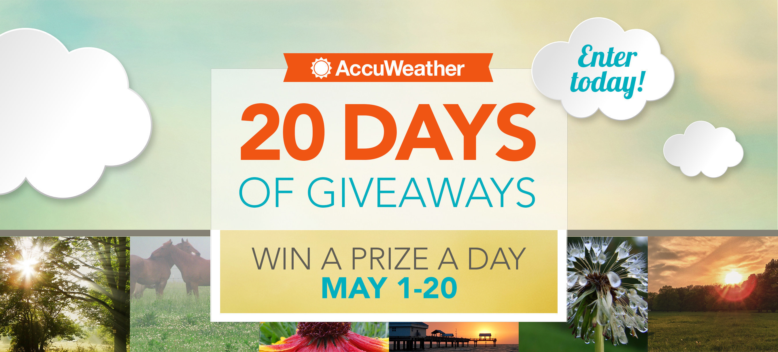 AccuWeather Celebrates the Launch of the new 24x7 AccuWeather Network with the '20-Days of Giveaways Sweepstakes' on Facebook