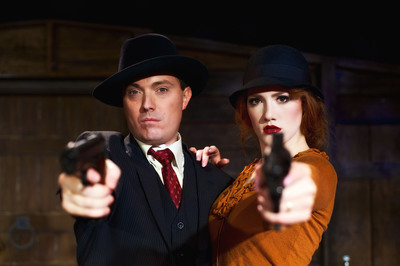 Actor Johnny Hebda in Utah Repertory Theatre's Bonnie & Clyde. (PRNewsFoto/Utah Repertory Theatre)