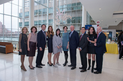 From left: Susan Getz, Stacey Sager, Jon Gray, Mindy Gray, Mara Haseltine, Susan Domchek, MD, Ralph Muller, Chi V. Dang, MD, PhD, Shari Potter, and Len Potter