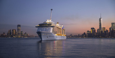 The world's first smartship, Quantum of the Seas, sails into New York Harbor