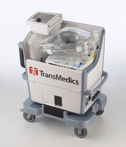 TransMedics Organ Care System (OCS) Lung portable perfusion and ventilation system. For more information, visit  ...