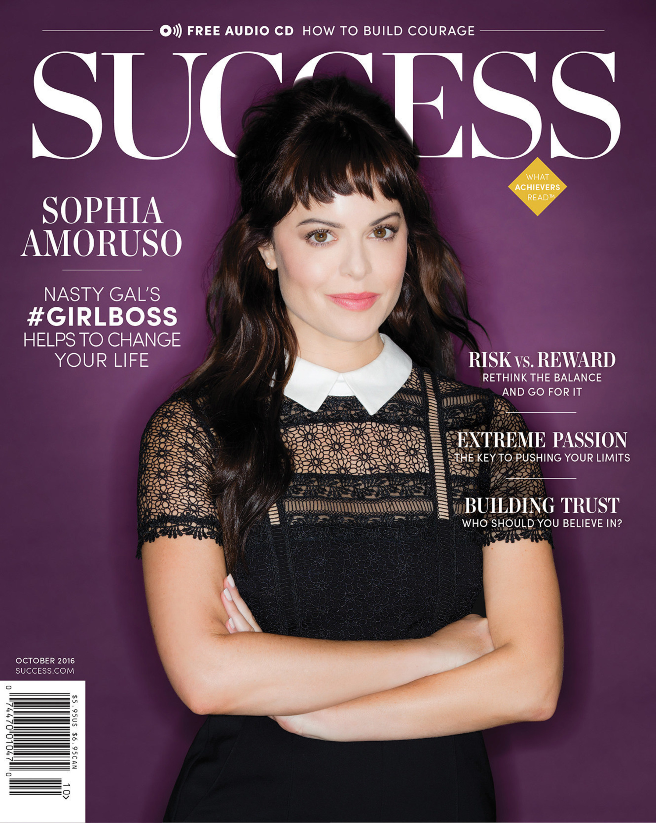 Nasty Gal's #GIRLBOSS Sophia Amoruso Will Help Change Your Life in the October Issue of SUCCESS Magazine