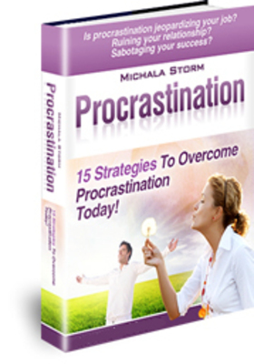 Procrastination - 15 Strategies To Overcome Procrastination Today! (PRNewsFoto/Michala Storm)