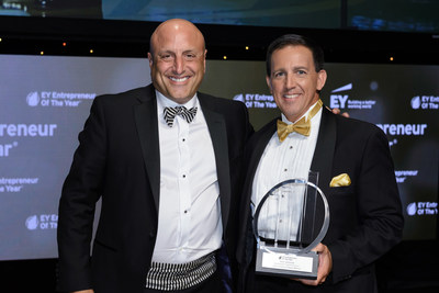 Black Knight Financial Services President and CEO Tom Sanzone (left) was awarded the EY Entrepreneur of The Year Florida award for the technology category by EY, a global leader in assurance, tax, transaction and advisory services.