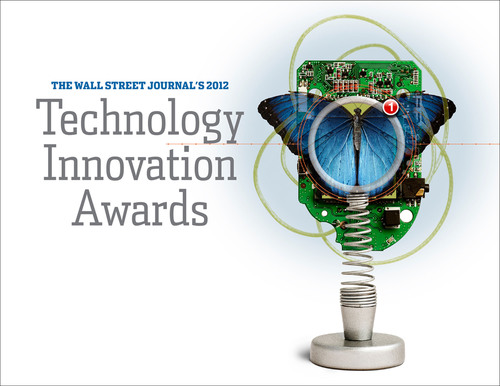 TI's bq25504 energy harvester chip was selected as runner-up in the Energy category of Wall Street Journal's 2012 Technology Innovation Awards.  (PRNewsFoto/Texas Instruments Incorporated)