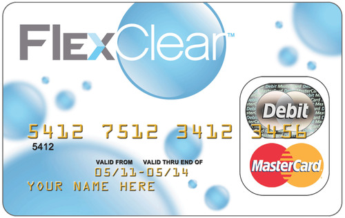 Pioneering FlexClear Prepaid MasterCard(R) Provides Convenience, Security, Mobility and Health Discounts for Hard-Working Americans.  (PRNewsFoto/The Tyburn Group Inc.)