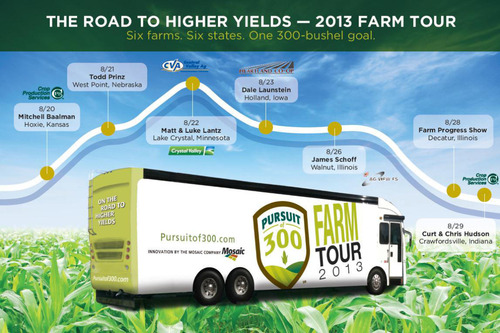 Mosaic Company Pursuit of 300 The Road to Higher Yields Farm Tour 2013.  (PRNewsFoto/The Mosaic Company)