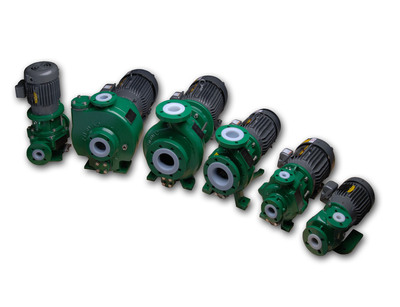 The Sundyne Sealless family of Ansimag sealless non-metallic magnetic drive pumps. (PRNewsFoto/Sundyne)