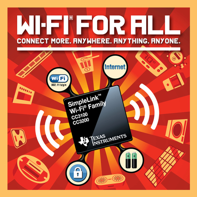 Add Wi-Fi to anything with TI's SimpleLink Wi-Fi family