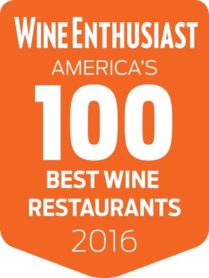 Wine Enthusiast Reveals America's 100 Best Wine Restaurants of 2016. The Leading Publication in Wine Lifestyle Announces Their Sixth Annual Issue of the Best Places to Drink Up In While Dining Out.