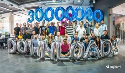 Anghami reaches the 30 million downloads milestone (PRNewsFoto/Anghami)
