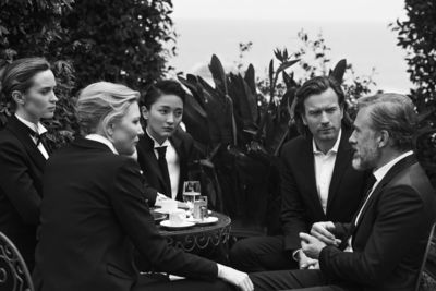 Actors Cate Blanchett, Emily Blunt, Zhou Xun, Ewan McGregor and Christoph Waltz photographed by Peter Lindbergh for the launch of the new Portofino Midsize watch collection from the Swiss luxury watch manufacturer IWC Schaffhausen. Portofino (Italy), May 2014. Peter LINDBERGH © Peter LINDBERGH. More pictures and information are available for download at www.iwc.com/portofino-press