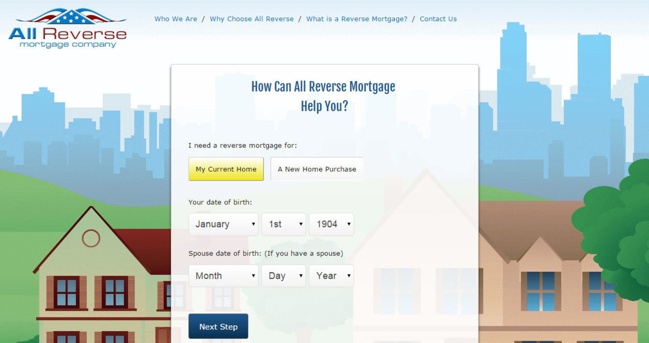 All Reverse Mortgage Calculator Screenshot