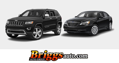 The 2014 Jeep Grand Cherokee and 2014 Chrysler 200 are currently available at Briggs Chrysler.  (PRNewsFoto/Briggs Auto Group)