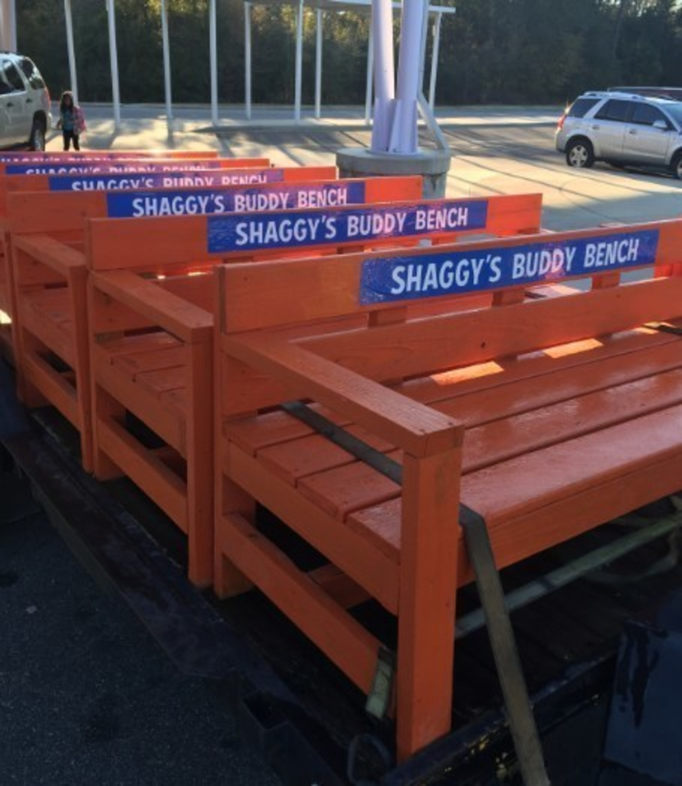 Shaggy's Donates Buddy Benches to Gulfport Schools