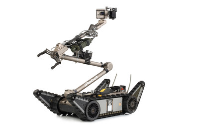 The iRobot 510 PackBot CBRN Recce System is a modular expansion to the company's 510 PackBot Multi-Mission robot platform that meets specific requirements set forth by the Canadian Department of National Defence. (PRNewsFoto/iRobot Corp.)