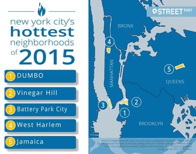 StreetEasy predicts New York City's hottest neighborhoods of 2015.