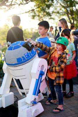 Travelers to California can celebrate the North American premiere of Star Wars: The Force Awakens with a visit to LEGOLAND California Resort, featuring a 1,900-pound model of the Death Star.  (Photo Credit: LEGOLAND California Resort)