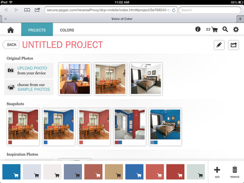 Ppg pittsburgh paints brand unveils mobile version of the for Paint your own room visualizer