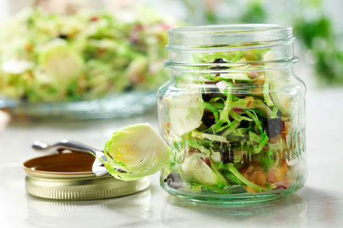 Brussels Sprout, Blueberry and Walnut Slaw: The nutrient-rich ingredients in this delicious slaw make it a smart choice for athletes. Brussels sprouts and blueberries are an excellent source of antioxidants and phytonutrients, helping to support a strong immune system. Also, walnuts and canola oil are among the top 10 food sources of plant-based omega-3 fat, and may help protect the heart. (PRNewsFoto/CanolaInfo) (PRNewsFoto/CANOLAINFO)