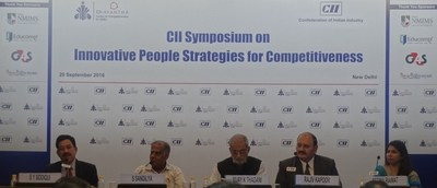 Panelists at the CII Symposium on Innovative People Strategies for Competitiveness (PRNewsFoto/G4S India)