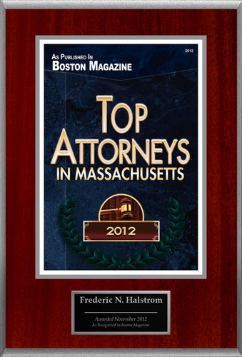 Attorney Frederic N. Halstrom Selected for List of Top Rated Lawyers in MA.(PRNewsFoto/American Registry)