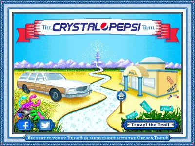 "Pepsi will release ""The Crystal Pepsi Trail"" online, a take on the popular 90s computer game ""The Oregon Trail."""