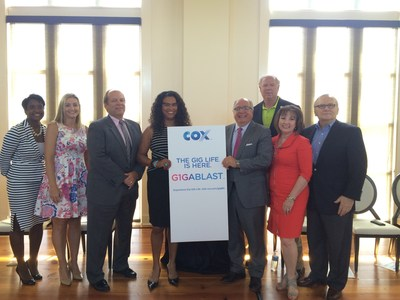 Community and business leaders celebrate the launch of Cox G1GABLAST in Louisiana at a reception at The Americana community, one of the first neighborhoods in the state where the service is available