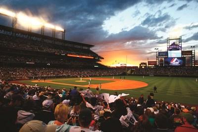 Sunset over Denver's Coors Field, home of Major League Baseball's Colorado Rockies. Credit: VISIT DENVER