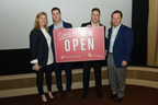 2015 EDENS Retail Challenge winners Rob Pietroforte and Jesse Jahr of Jules & Jim Cocktail and Bottle Shoppe with EDENS President and Chief Investment Officer Jodie McLean and CEO Terry Brown.