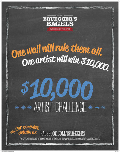 Bruegger's Bagels $10,000 Artist Challenge to add finishing touch to new bakery design. (PRNewsFoto/Bruegger's Bagels) (PRNewsFoto/BRUEGGER'S BAGELS)