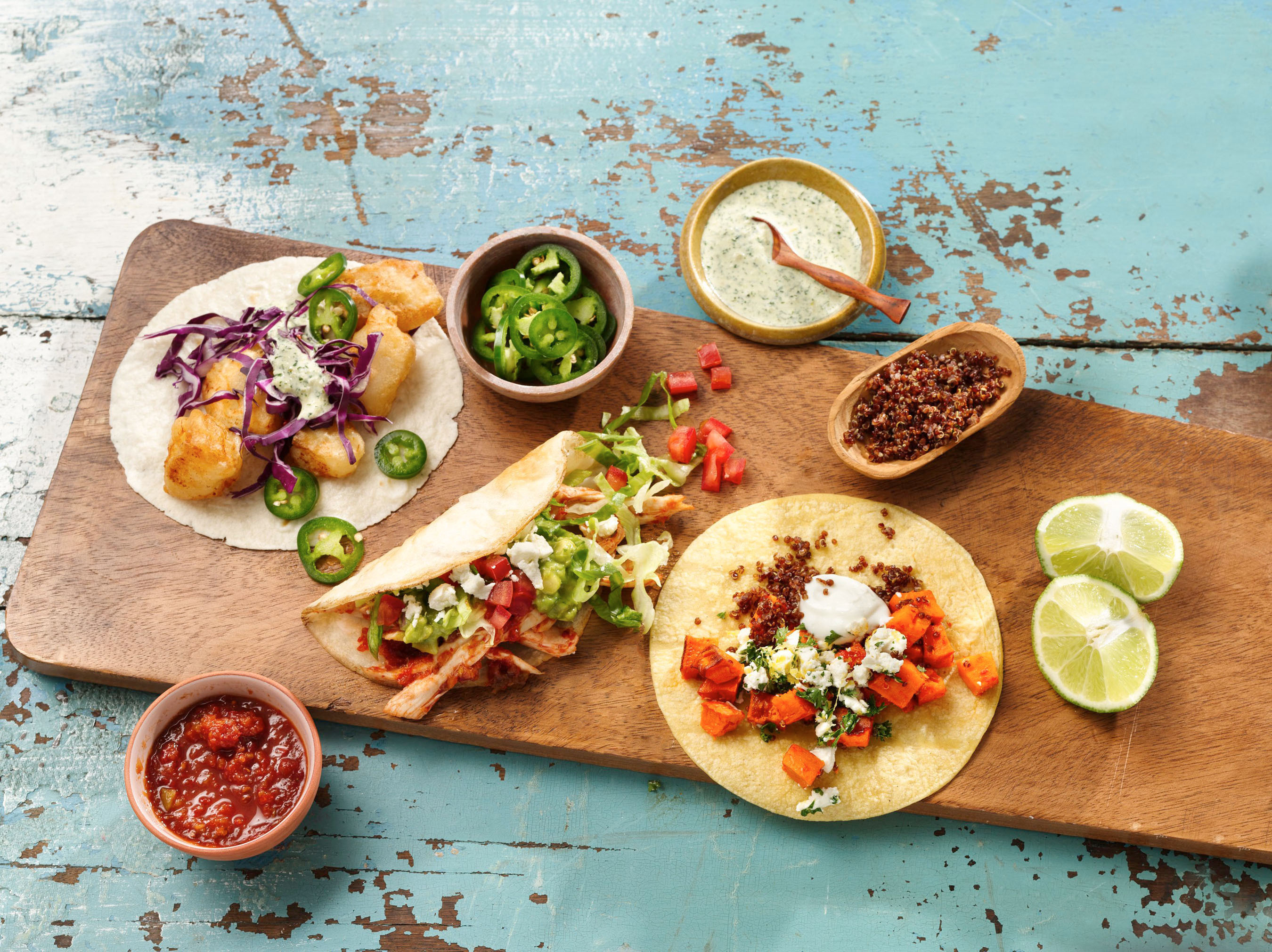 All across the country, chefs and home cooks alike are reinventing the taco with global flavors and fresh ingredients. Betty Crocker Kitchens brings global trends home with inspired taco-margarita pairings for Cinco de Mayo.  (PRNewsFoto/Betty Crocker Kitchens)