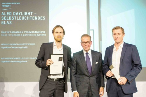 "Felix Zabel, Managing Partner LightGlass; Andrej Kupetz, CEO ""Rat fur Formgebung""; Paul Brettschuh, CEO  ..."